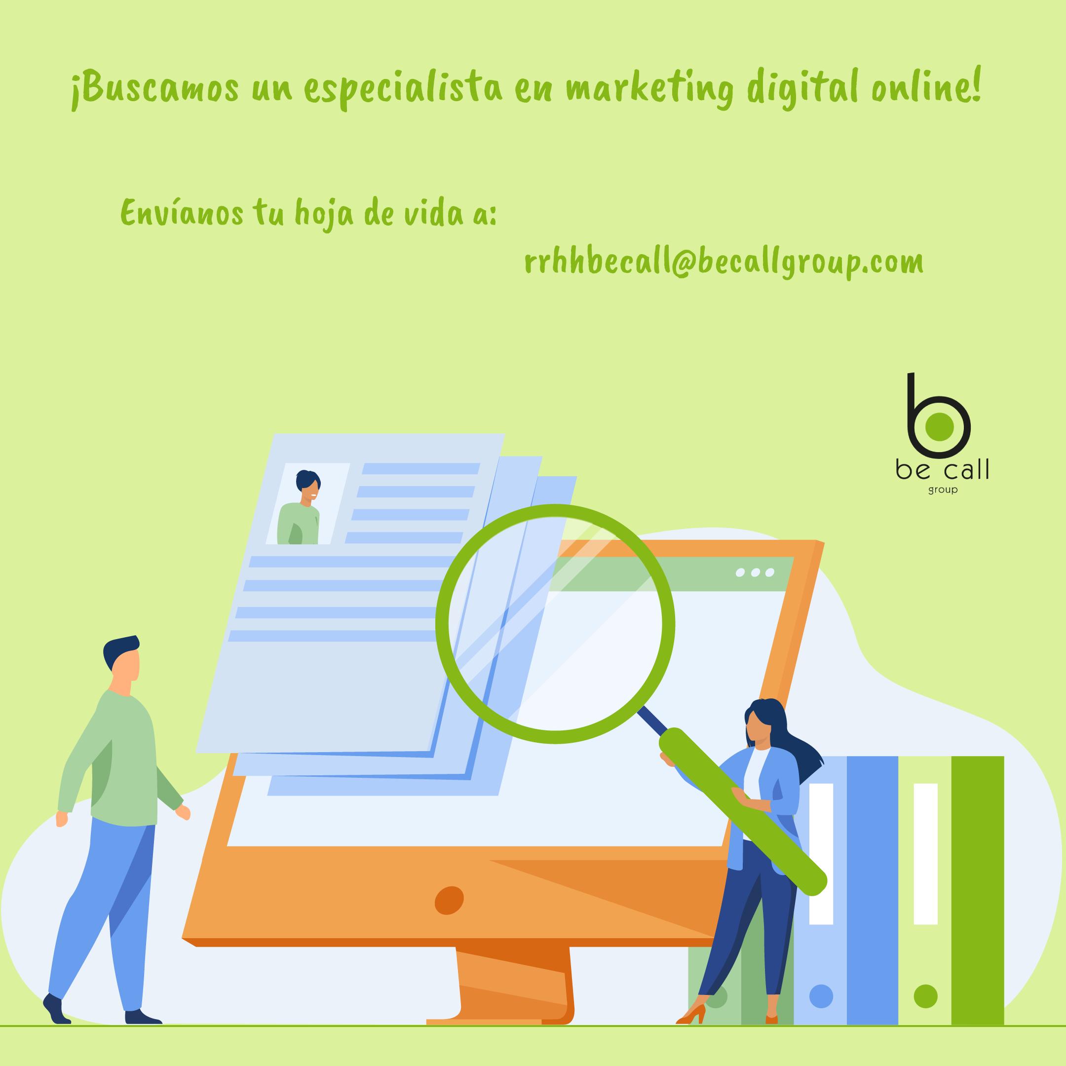Especialista en Marketing digital online