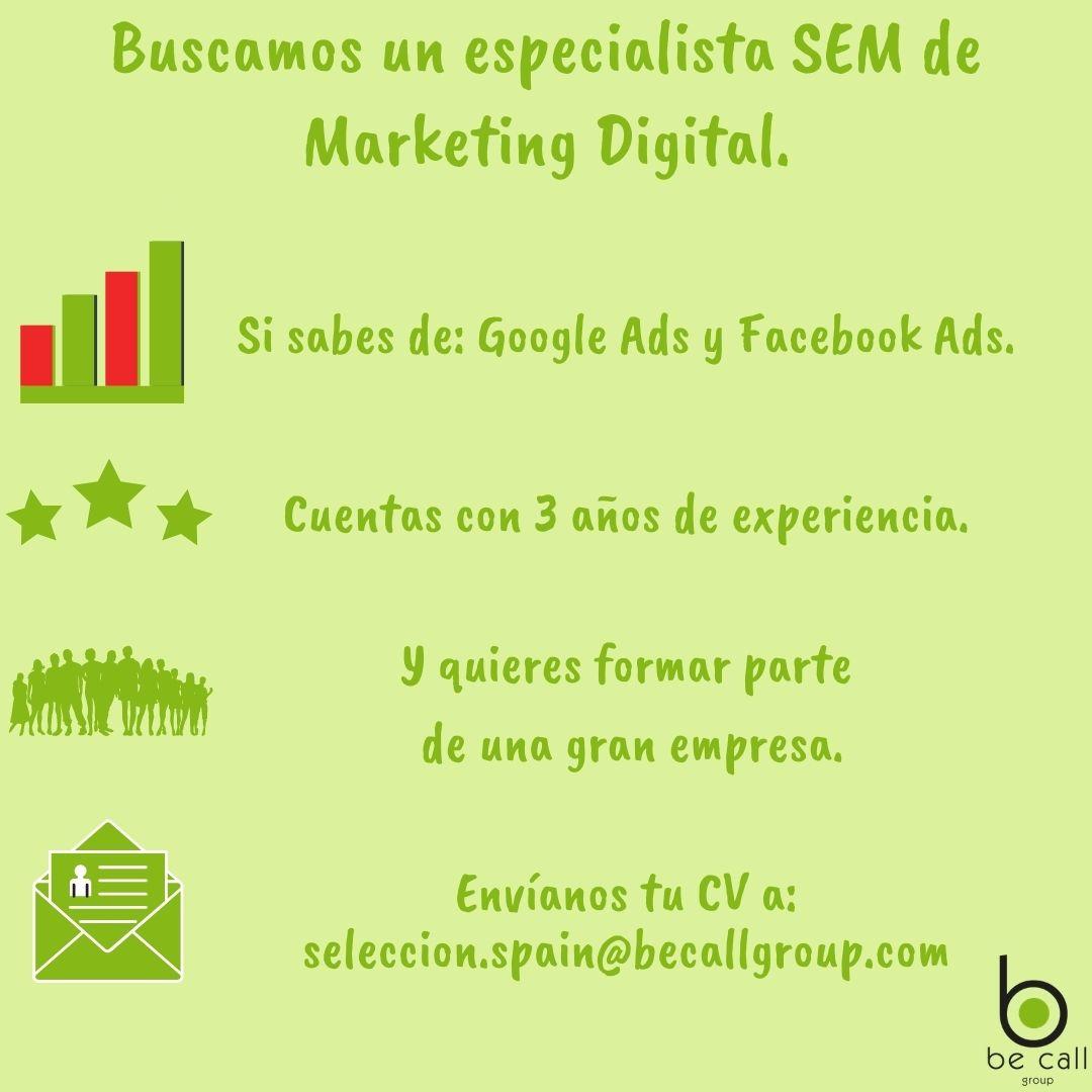 Especialista SEM de Marketing Digital