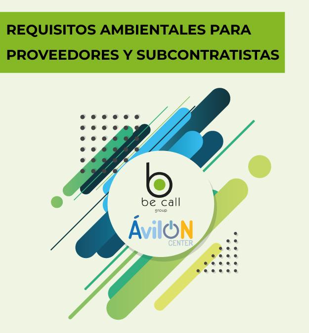 Requisitos ambientales para proveedores y subcontratistas